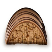 Holy Chocolate Striped Hazlenut Gourmet Milk Chocolate Truffle