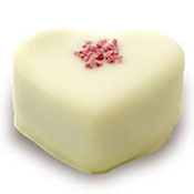 Holy Chocolate White Heart Raspberry Gourmet Chocolate Truffle